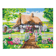 Craft Buddy Rose Cottage Framed Crystal Art Kit, 40 x 50cm CAK-A94