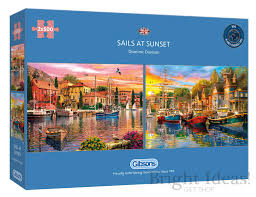 Sails at Sunset 2 x 500pc puzzles