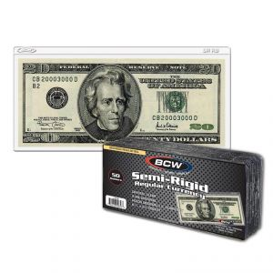 Semi-Rigid Currency Holder - Regular Bill