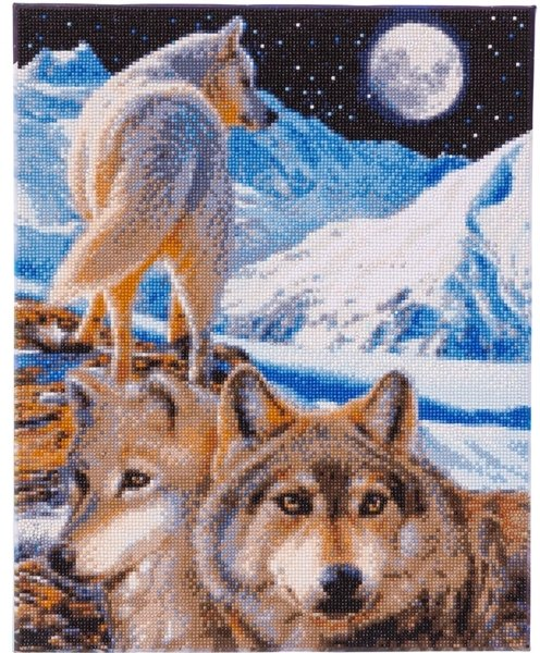 Craft Buddy Crystal Art Kit  The Sentinel Wolves 40 x 50cm Pre-Framed 5D Art Kit