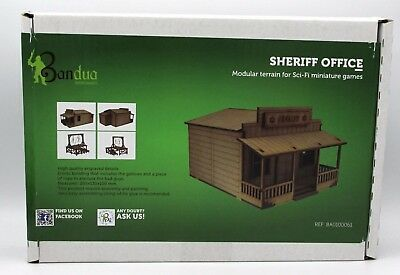 Bandua Wargames: SHERIFF OFFICE SCENERY WARGAMES 28MM / 32MM