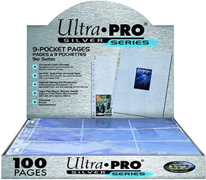 Ultra Pro 9-Pocket Silver Series Pages for Standard Size Cards