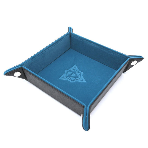 Folding Square Tray w/ Teal Velvet