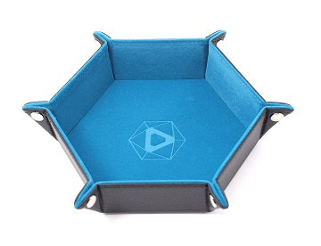 Die Hard: Folding Hex Tray With Teal Velvet