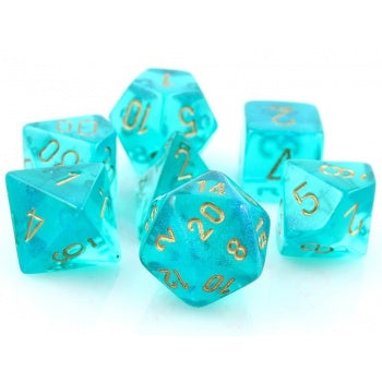 Chessex Borealis Polyhedral Teal/gold Luminary 7-Die Set