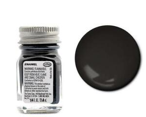 Testors 1139 Semi-gloss Black Enamel 1/4oz Model Paint