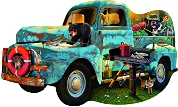 The Blue Truck - 1000pc Shaped Jigsaw Puzzle
