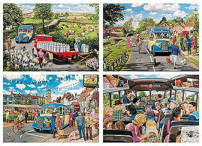 The Country Bus 4 x 500 pc Puzzles