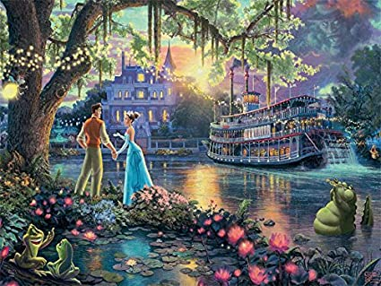 Ceaco Thomas Kinkade Disney The Princess & The Frog Falling in Love 750pc