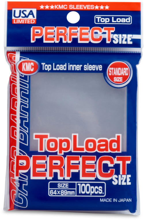 KMC Top Load Perfect Fit Standard Size Sleeves - 100ct