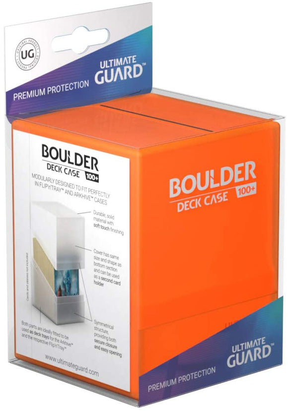 Ultimate Guard Deck Box Boulder Standard 100+ Poppy Topaz Orange deck Box