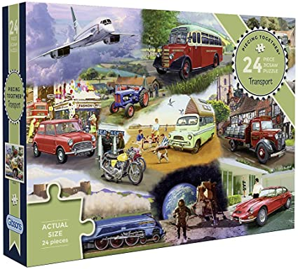 TRANSPORT 24 EXTRA-LARGE PIECE PUZZLES