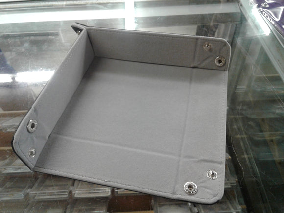 Folding Square Tray w/ Grey Velvet