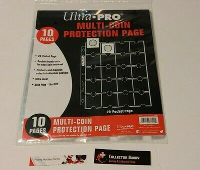 Ultra Pro - Multi-Coin Protection Binder Pages - Package of 10