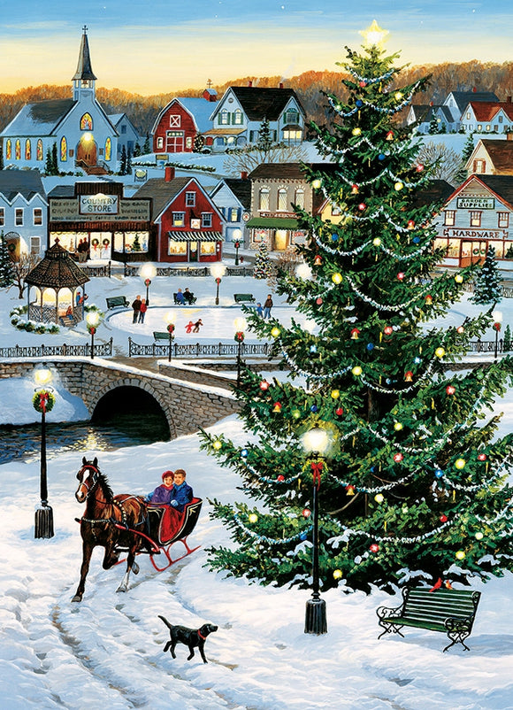 Cobble Hill Village Tree 1000 Pc Puzzle