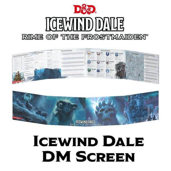 D&D DM Screen Icewind Dale Rime Of The Frostmaiden