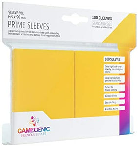 Yellow 100ct Prime Sleeves GG Standard Size