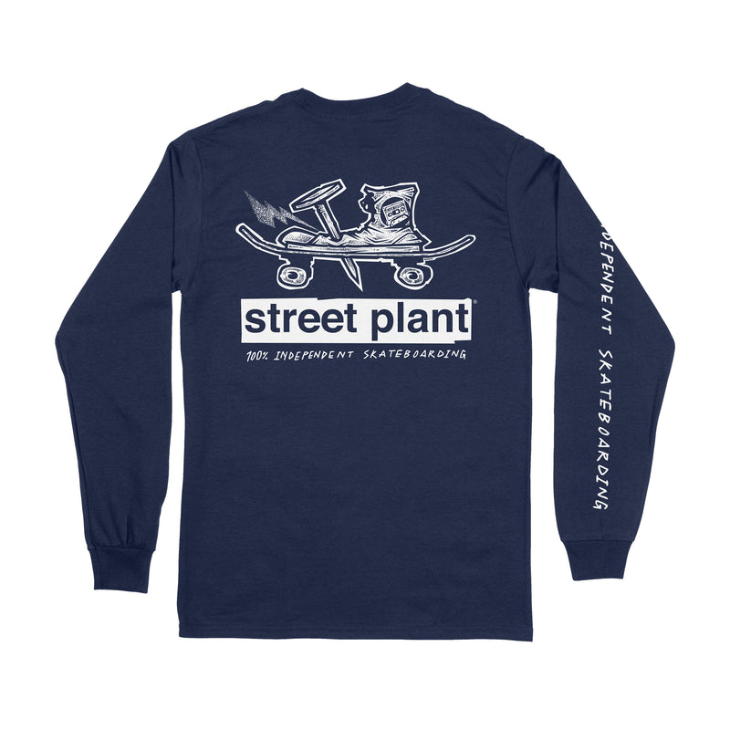 Nailed Long Sleeve T-Shirt (Navy)