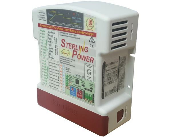 Sterling Power Battery to Battery Charger 12V input to 12V output 30amp DC powered charger
