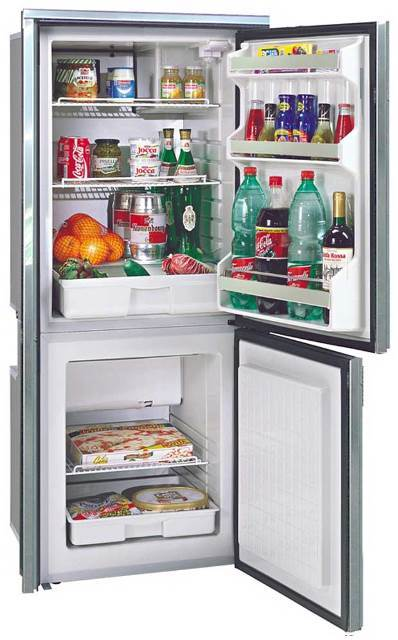 CRUISE 195 COMBI REFRIGERATOR / FREEZER  STAINLESS STEEL -  4.6 / 2.3 Cu. Ft.