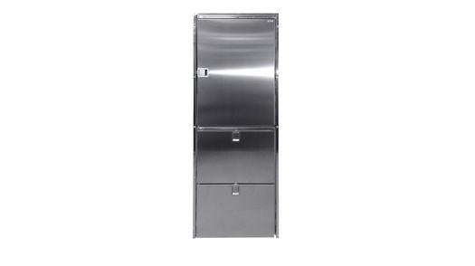 Cruise 320 Combi Stainless Steel Fridge/Freezer/Freezer - AC/DC (2-drawer freezer on bottom)