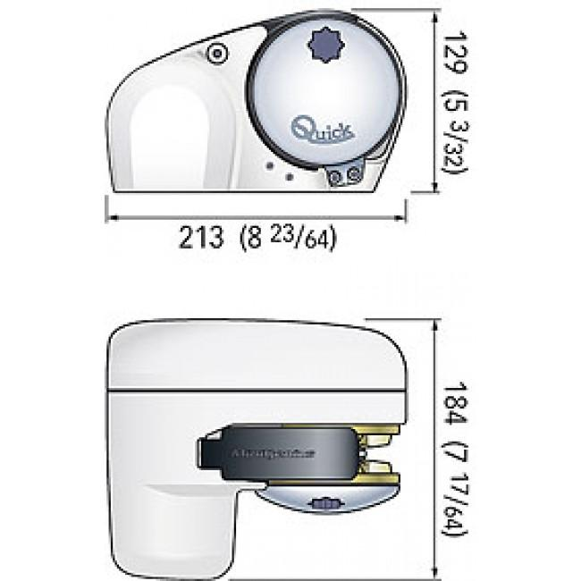 QUICK USA Genius GP2 500 Horizontal Windlass 150W 12V 1/4""