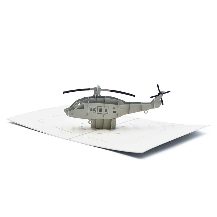 Helicopter Birthday Greeting Card For Kids