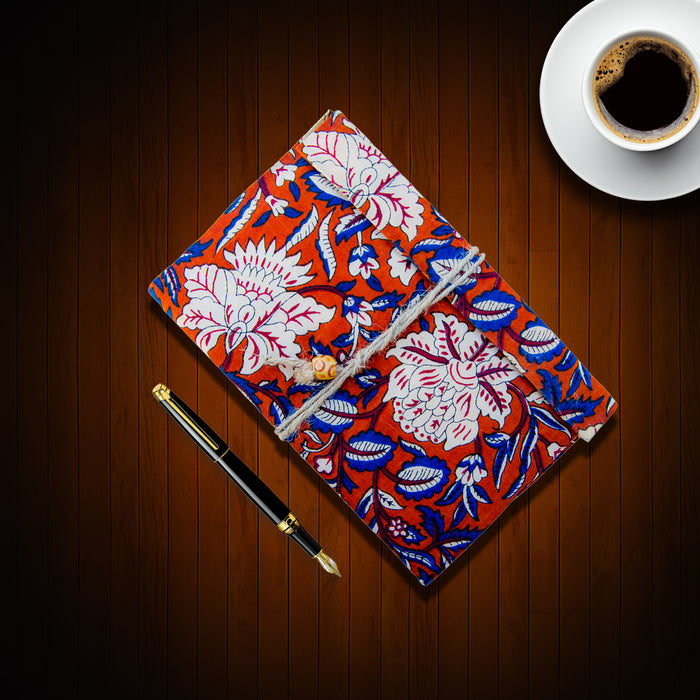 Soft Bound Handmade Paper Two Fold Notebook