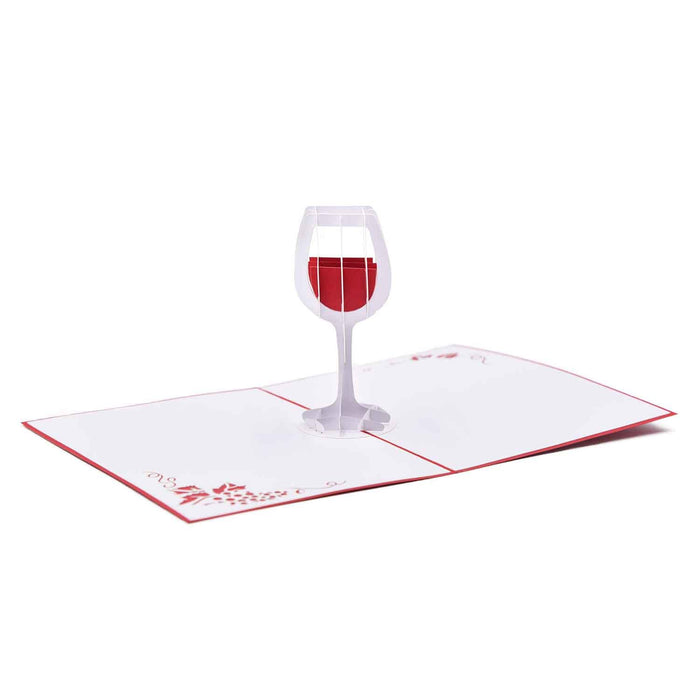 Wine Glass - Boss Day Greeting Card