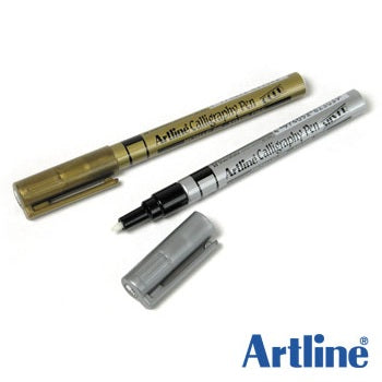 Artline Calligraphy pen Metallic ink . Xylene Free