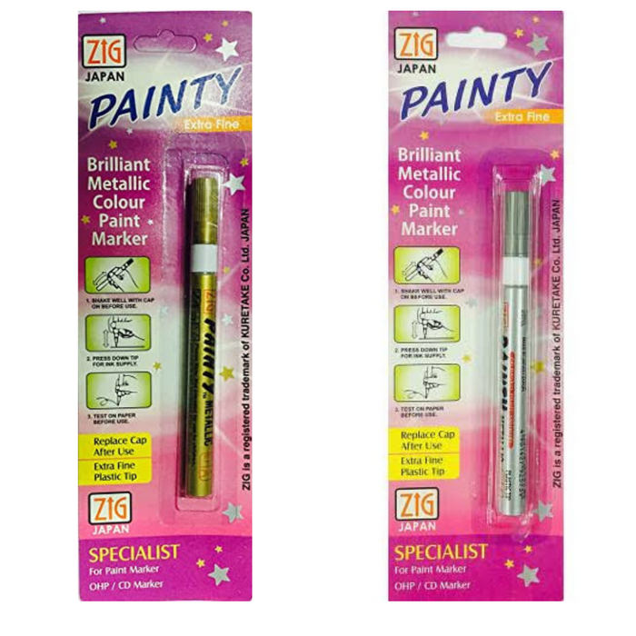 Zig (Japan) Painty Brilliant Metallic Colour Paint Marker