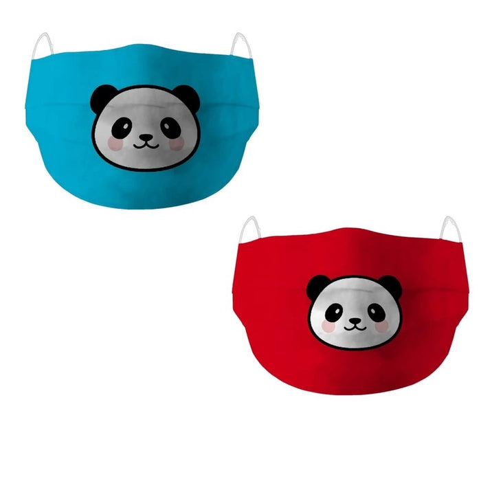 X3C PANDA PACK OF 2 DEAL - SCOOBOO , Live It Safe, Face Mask, x3c-panda-pack-of-2-deal, Cotton Face Mask, Face Masks, [collection]