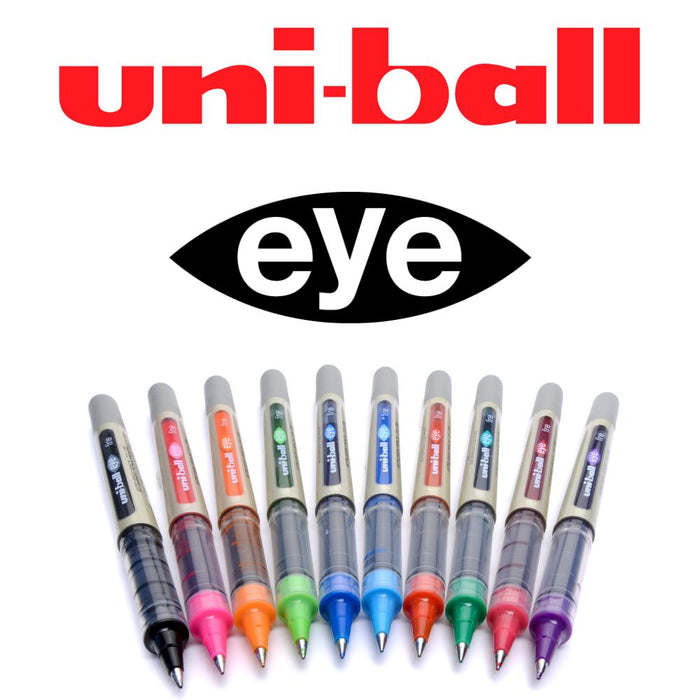 Uni-ball Eye UB157 Roller Pen (Assorted Colour, Pack of 10)