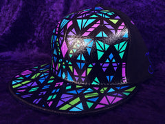 STAINED GLASS // CUSTOM PAINTED HAT