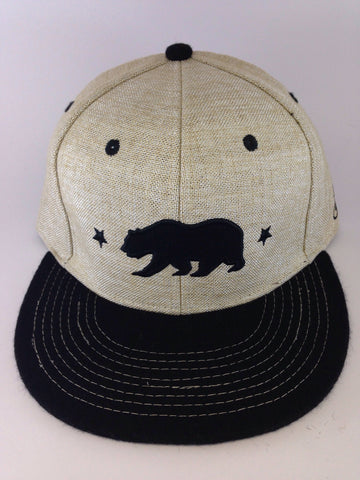 Grassroots California // Beige Hemp Bear Hat // Size 7 1/8