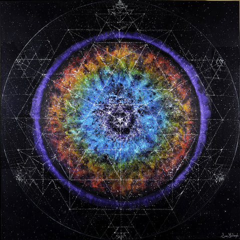 "**Limited Edition** <br> ""64TH TETRA MANDALA"" <br> Original Fine Art Print"
