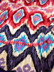 Reds & Purps Native Print Scarf