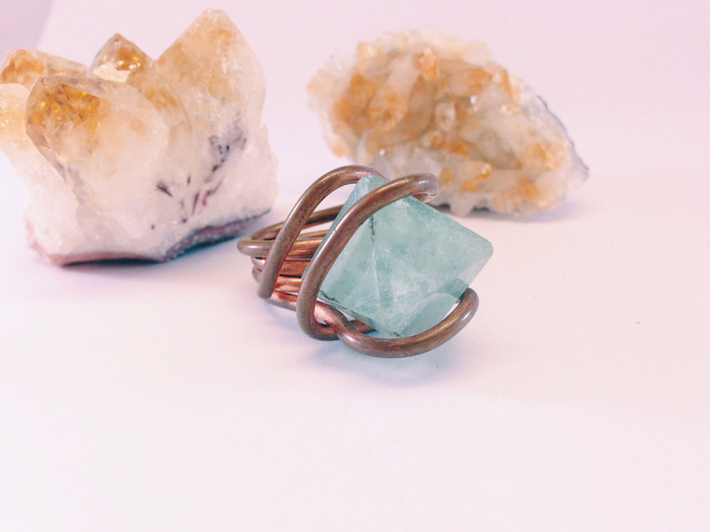 Fluorite Convertible Ring & Pendant