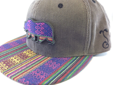 Grassroots California - Grey Andes Velcro Bear Hat