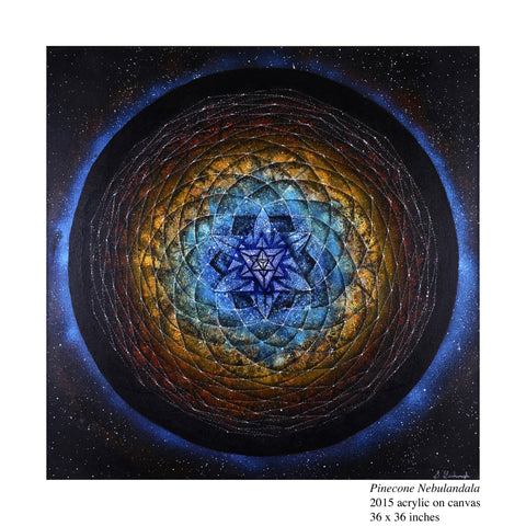 "**Limited Edition** <br> ""PINECONE NEBULANDALA"" <br> Original Satin Photo Art Print"