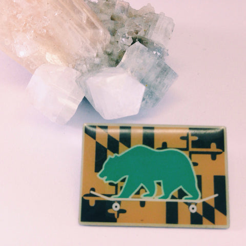 Grassroots California // Aztec Skater Bear Pin