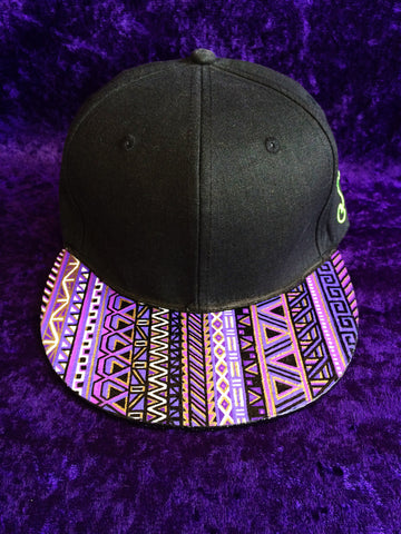 PURPS N' GOLD TRIBAL // CUSTOM PAINTED HAT