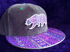 TRIBAL N' TRIPPY // CUSTOM PAINTED HAT & MATCHING PAINTED BEAR