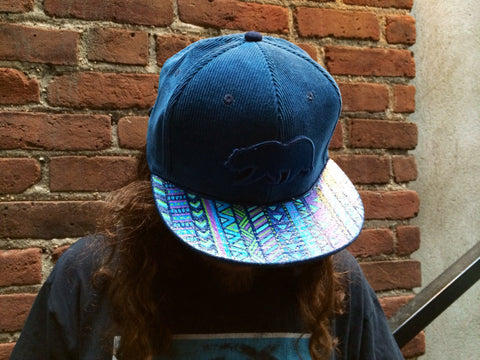 TRIBAL BLUEBERRY // CUSTOM PAINTED HAT