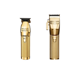 BaByliss PRO - Duo Pack - GoldFX Skeleton Lithium Outliner Hair Trimmer/Gold FX Lithium Clipper - Gold