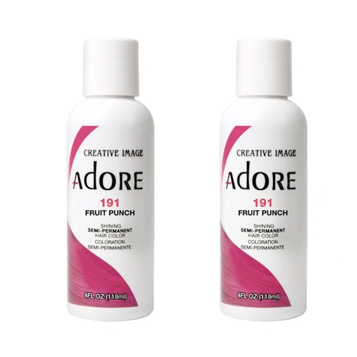 Adore  Semi-Permanent Hair Colour - Duo Pack - 191 Fruit Punch - (2x118mL)