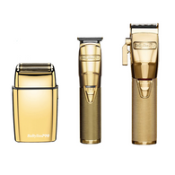 BaByliss PRO - Gold Trio - B788GA GoldFX Lithium Hair Trimmer/FX870G Lithium Clipper/FX02 Metal Double Foil Shaver