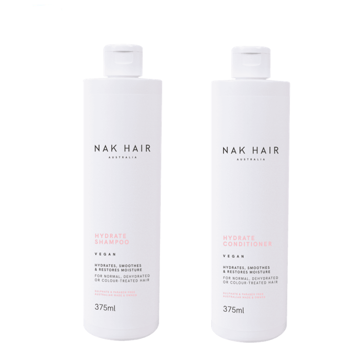 NAK Hair - Duo Pack - Hydrate Shampoo/Conditioner - (2x375mL)
