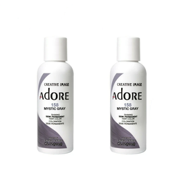 Adore  Semi-Permanent Hair Colour - Duo Pack - 158 Mystic Gray -  (2x118mL)