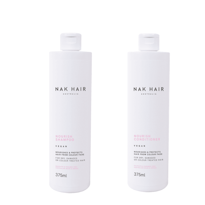 NAK Hair - Duo Pack - Nourish Shampoo/Conditioner - (2x375mL)